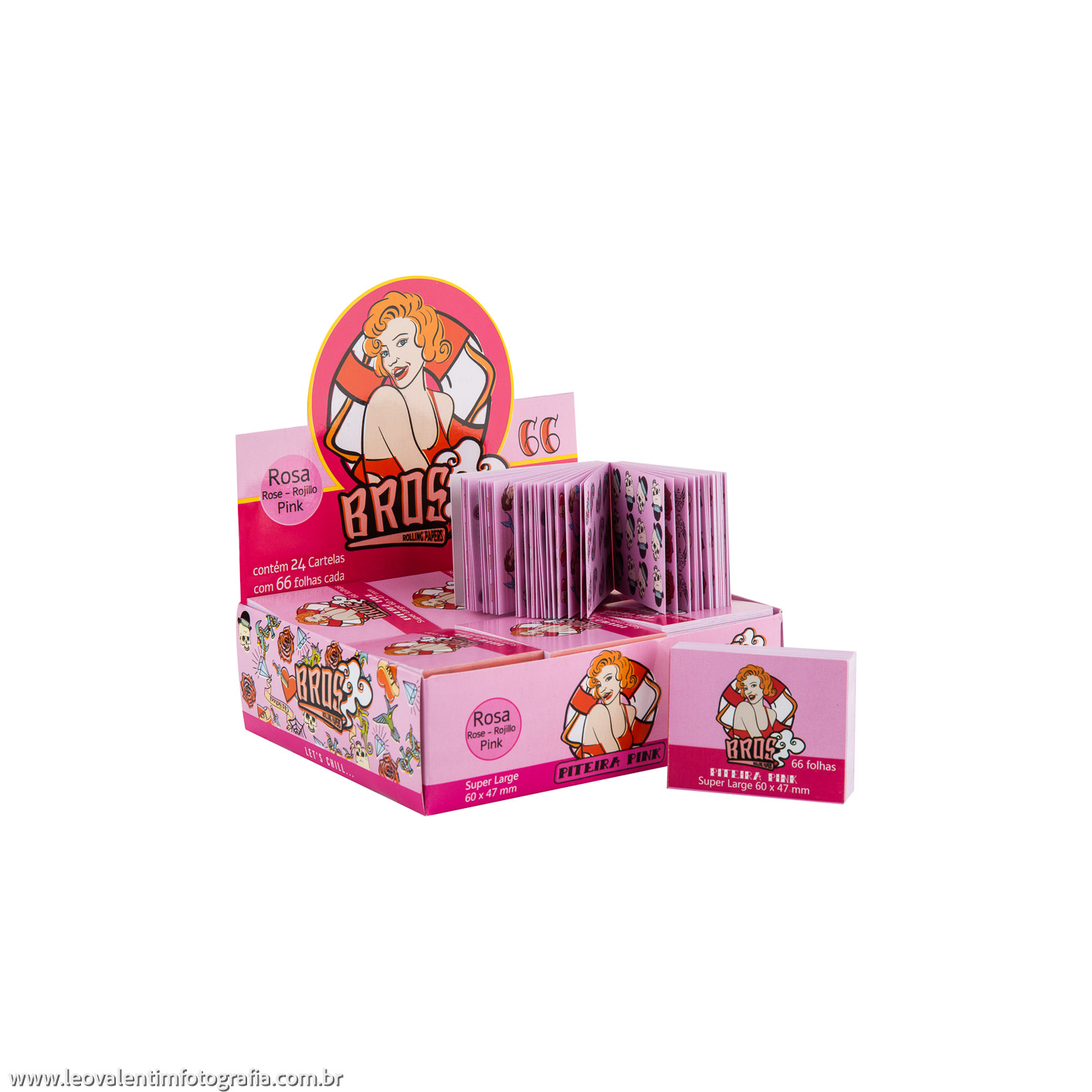 Piteira de Papel Bros Pink Super Large