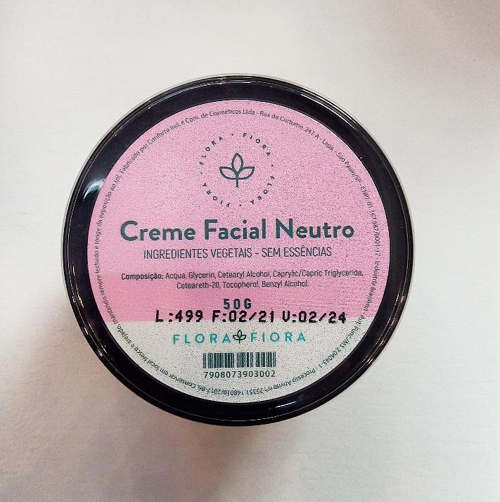 Creme Facial Neutro  - Flora Fiora PRO
