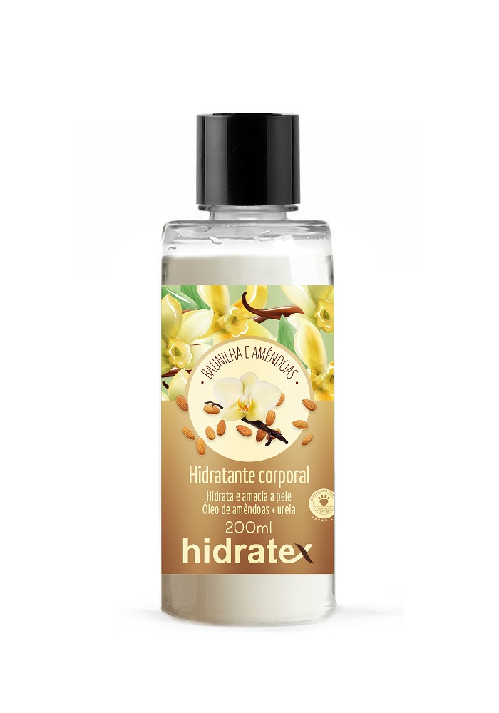 Hidratante Corporal Hidratex Amêndoas e Baunilha 200ml