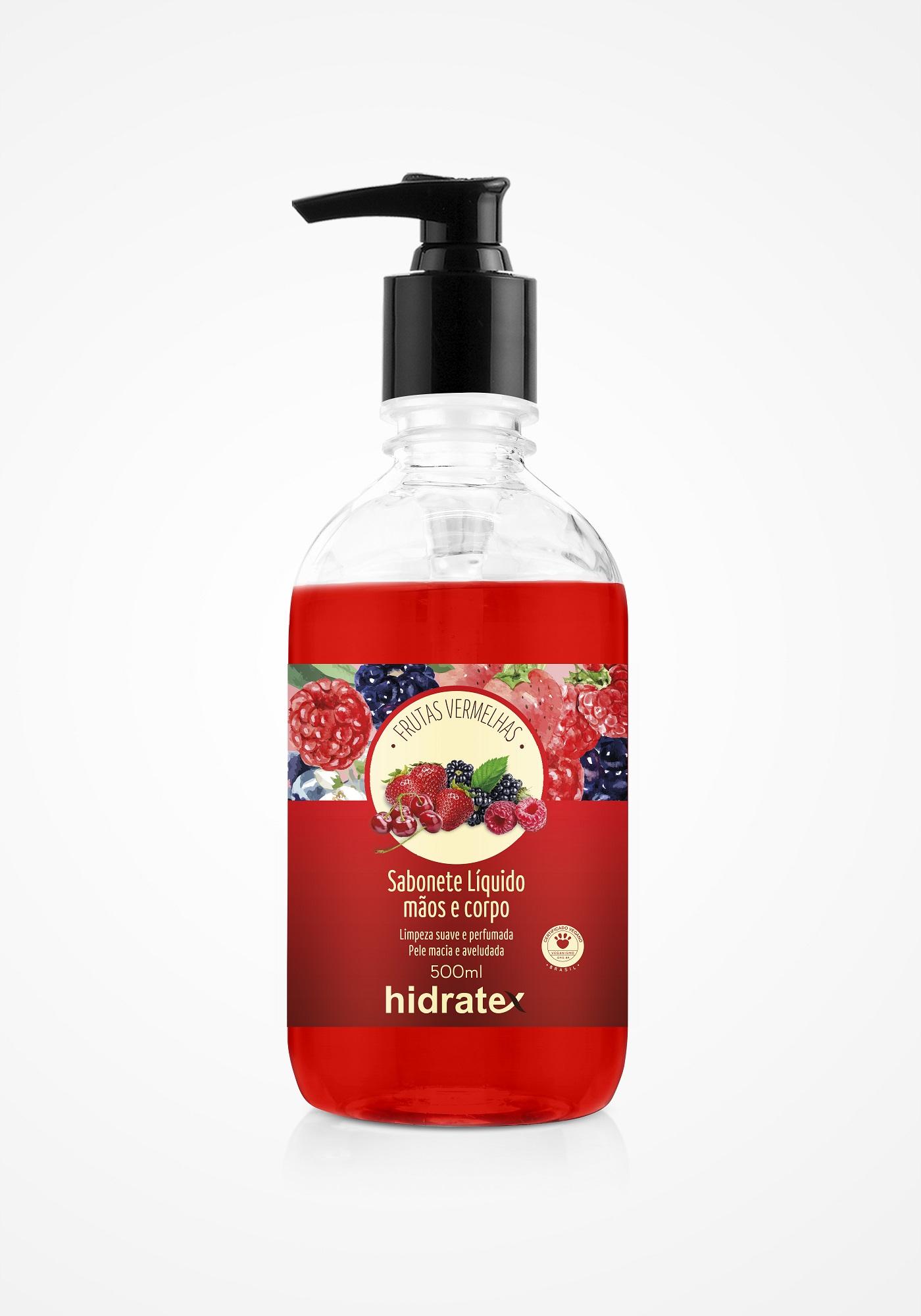 Sabonete Mãos e Corpo Hidratex Frutas Vermelhas 500ml