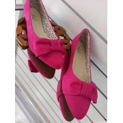 SAPATILHA  B. FINO/ SUEDE / LAÇO LATERAL /  PINK