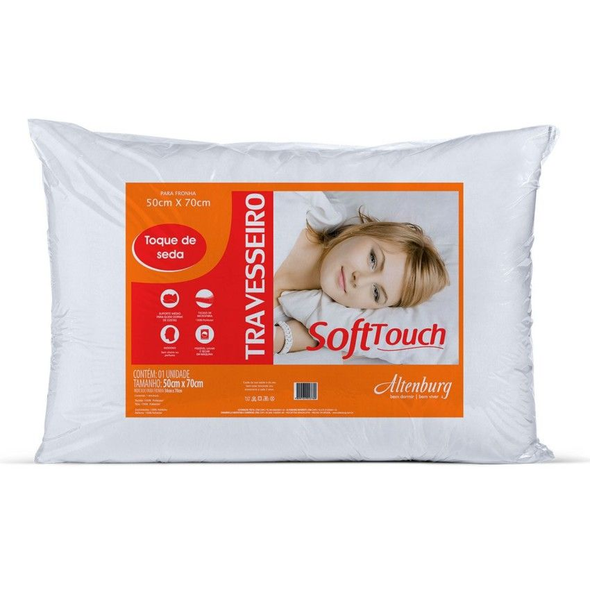 Travesseiro Altenburg Soft Touch Branco 50cm x 70cm