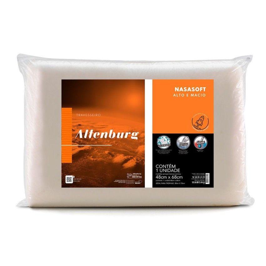Travesseiro Altenburg Visco Nasasoft Alto e Macio Marfim Bege - 48cm x 68cm