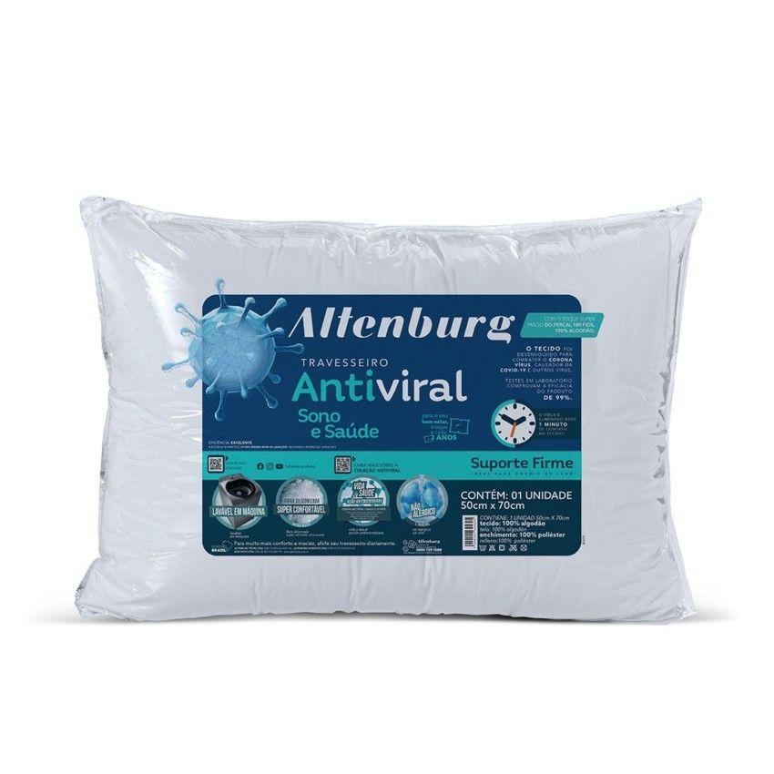 Travesseiro Antiviral Altenburg Sono e Saúde - Branco