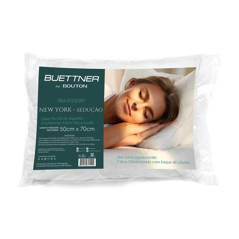 Travesseiro com Capa em Percal 100% Algodão New York Sedução Buettner