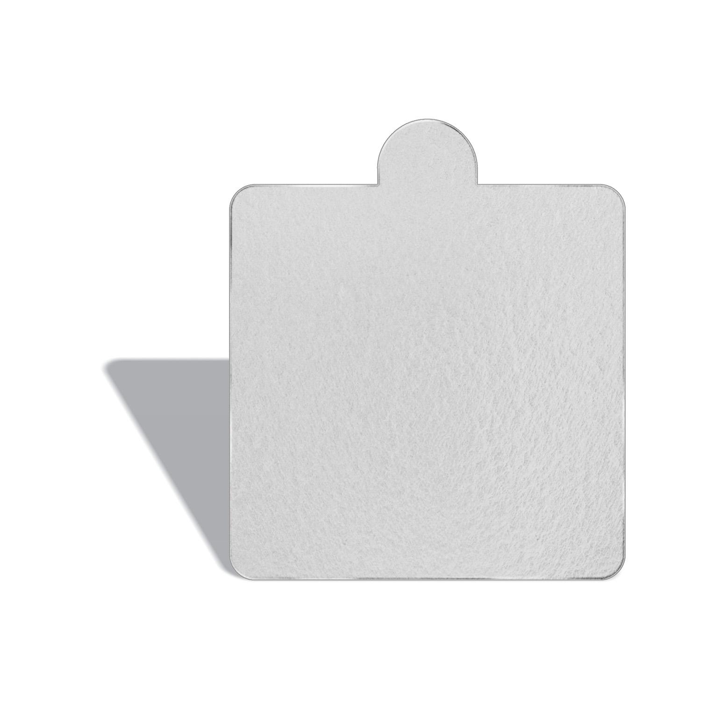 100 Bases Laminadas P/ Doces 8x8cm - Branca