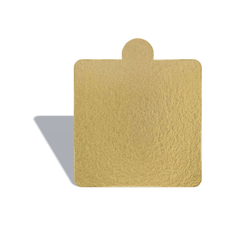 100 Bases Laminadas P/ Doces 8x8cm - Ouro