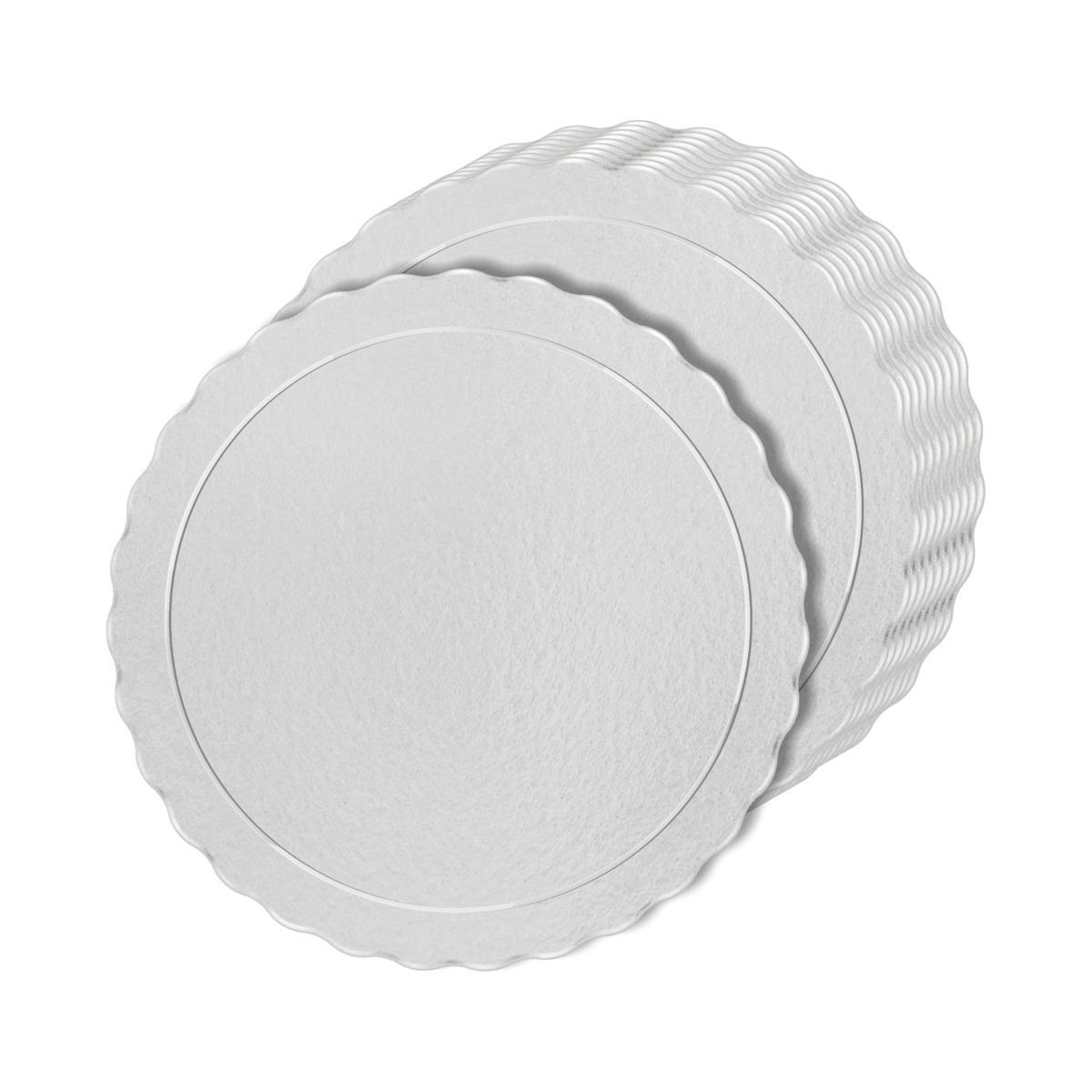 100 Bases Laminadas Para Bolo Redondo, Cake Board 35cm - Branco