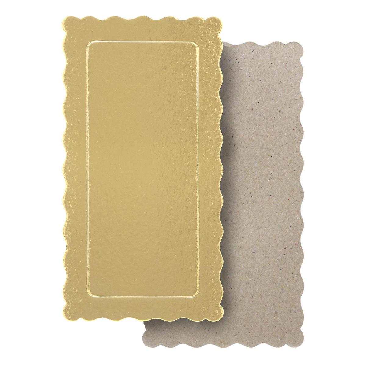 100 Bases Laminadas Para Bolo Retangular, Cake Board 29x15cm