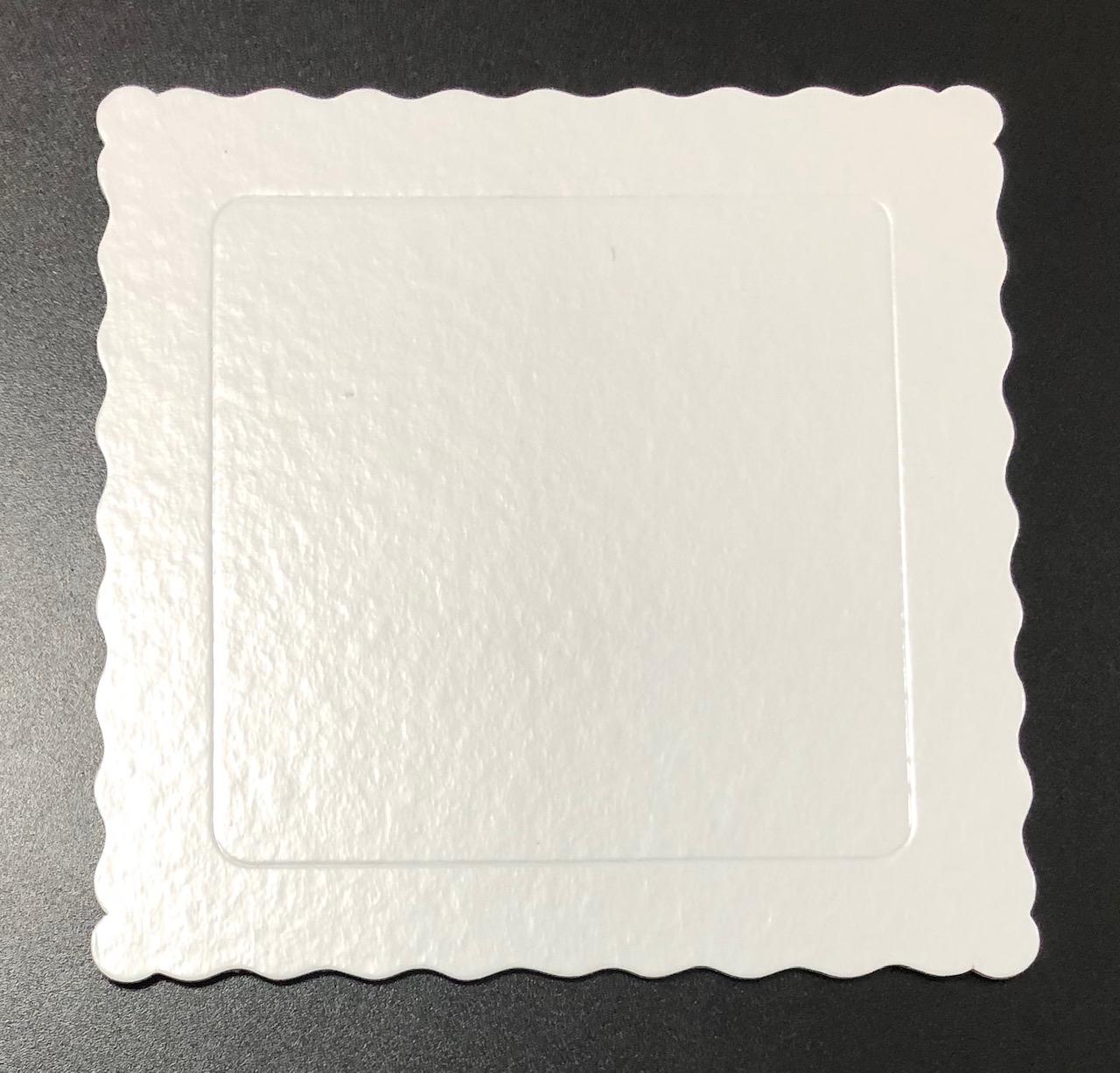 100 Bases Laminadas Para Bolo Quadrado, Cake Board 20x20cm - Branco