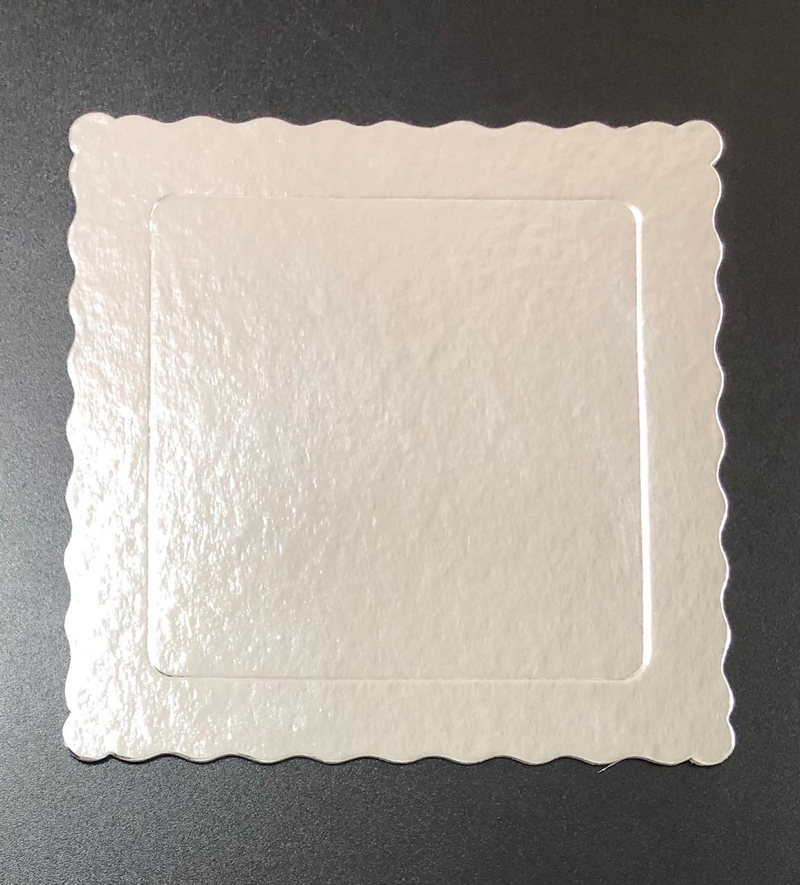 100 Bases Laminadas, Suporte P/ Bolo, Cake Board, 20x20cm - Prata