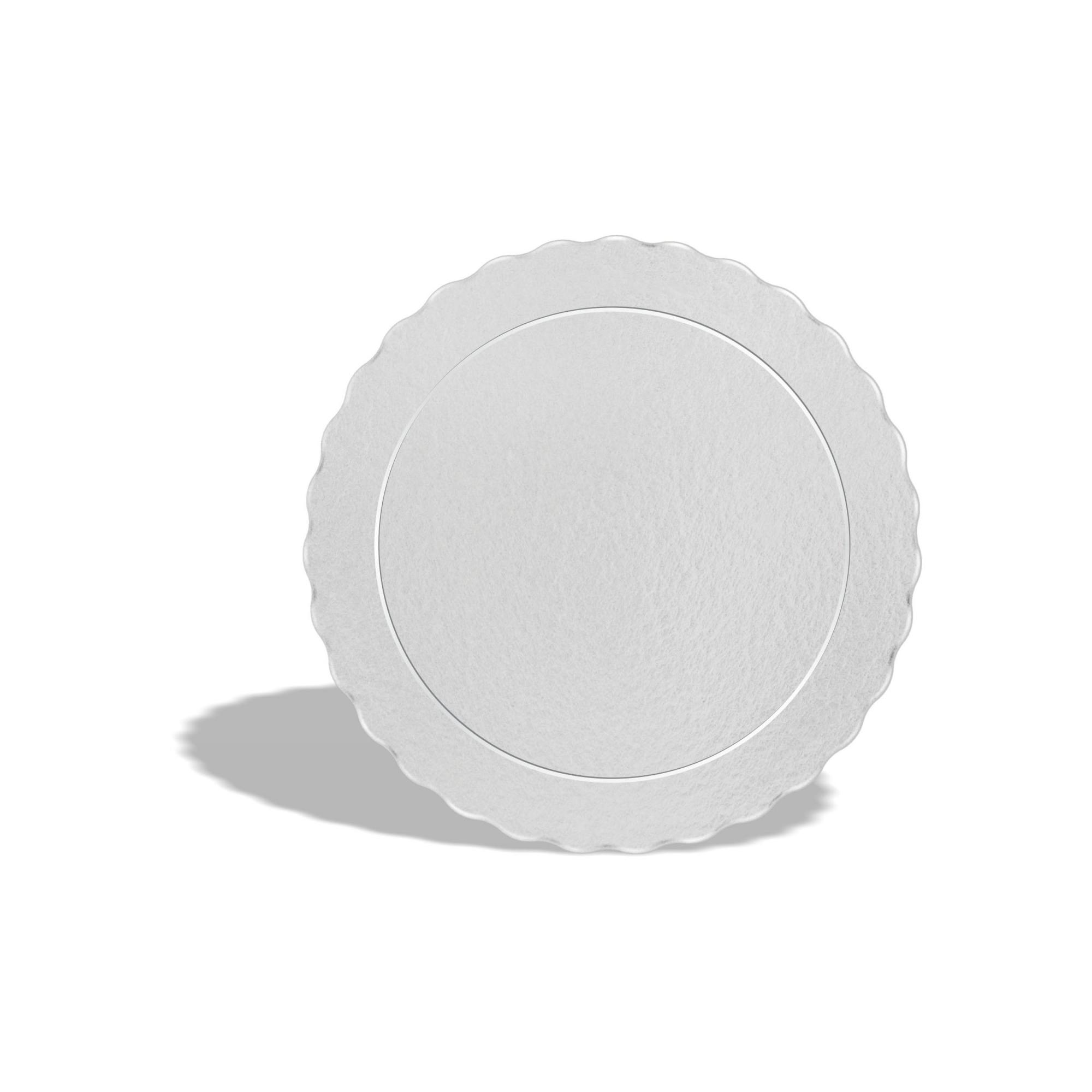100 Bases Laminadas Para Bolo Redondo, Cake Board 21cm - Branco