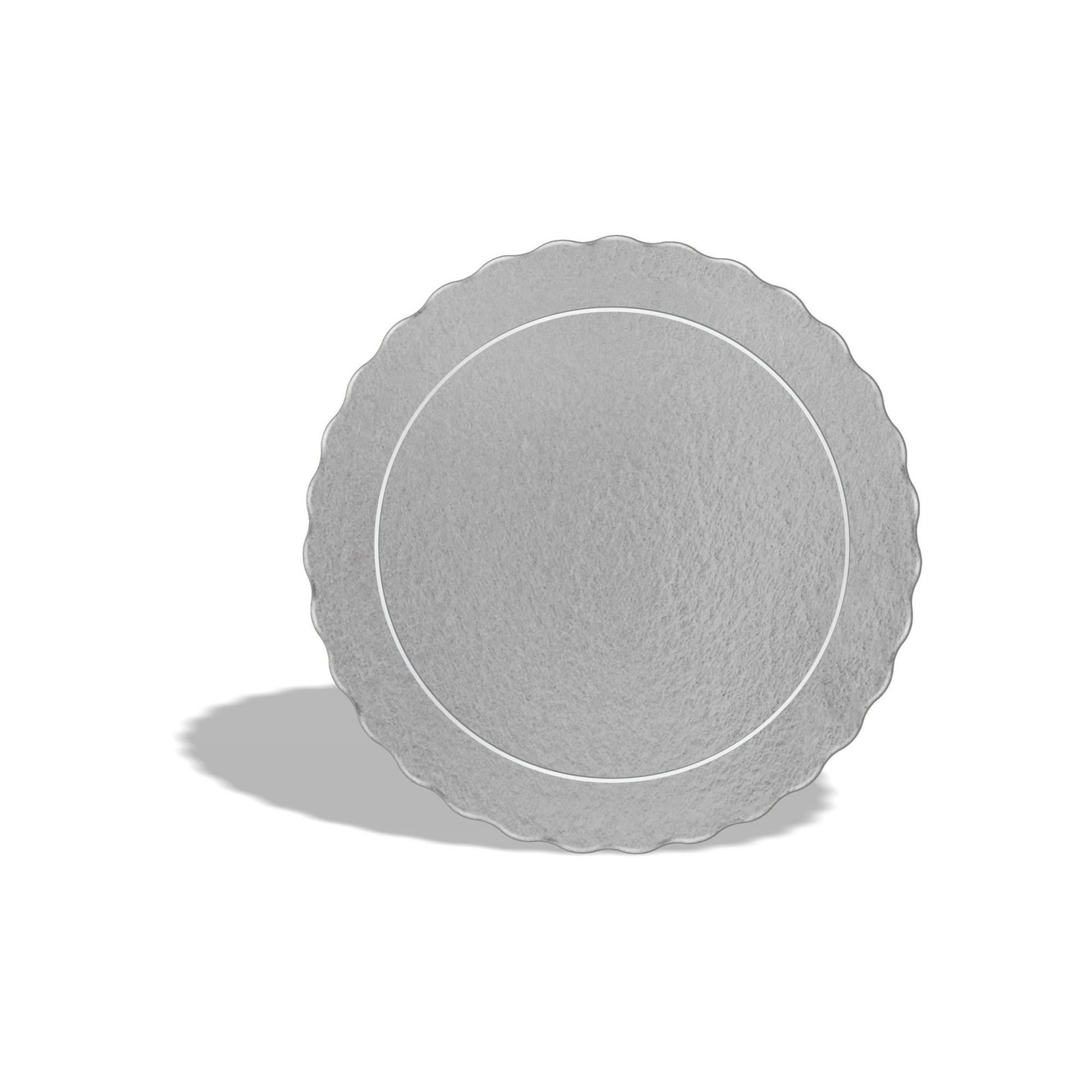 100 Bases Laminadas Para Bolo Redondo, Cake Board 21cm - Prata