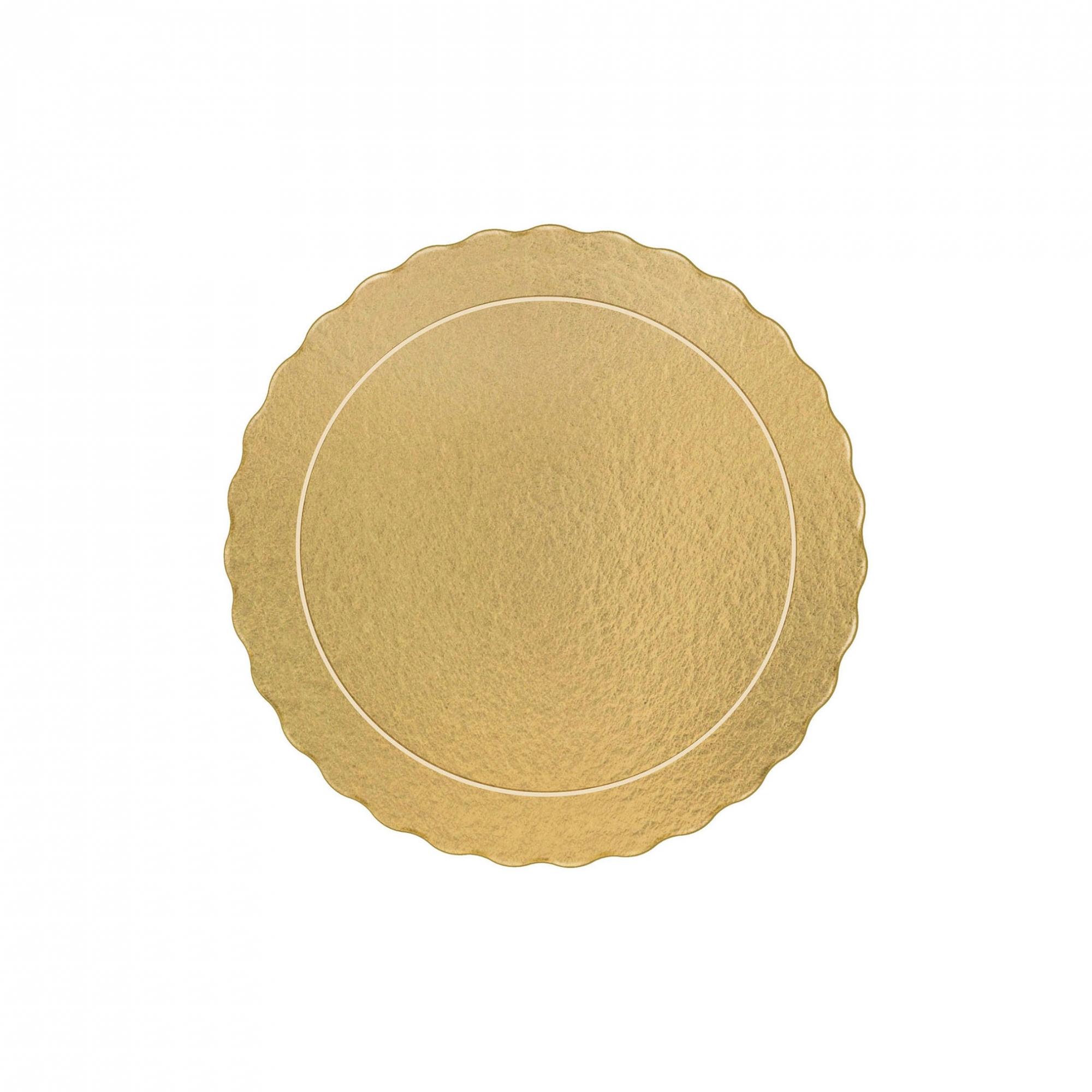 100 Bases Laminadas, Suporte P/ Bolo, Cake Board, 25cm - Ouro