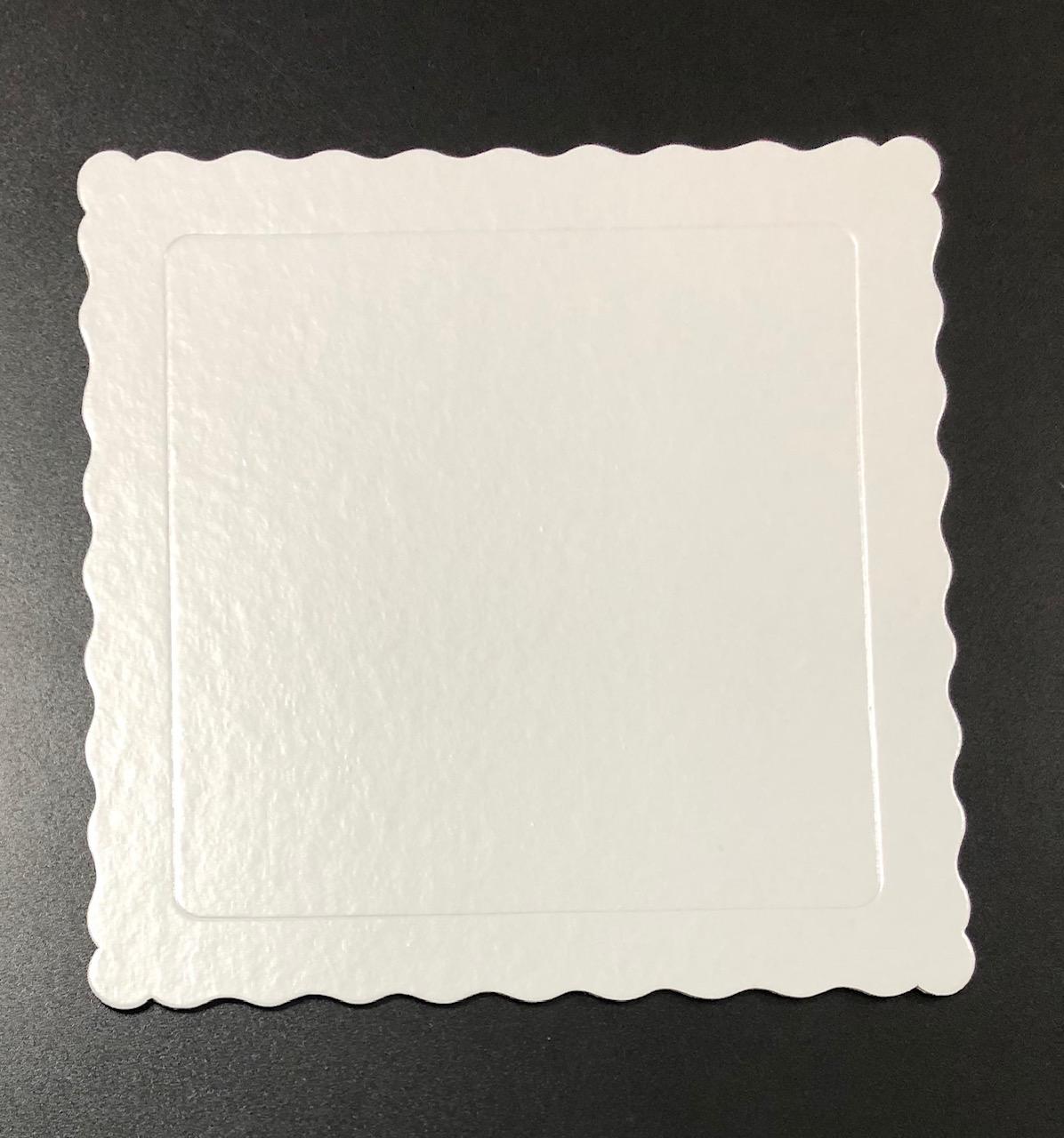 100 Bases Laminadas Para Bolo Quadrado, Cake Board 25x25cm - Branco