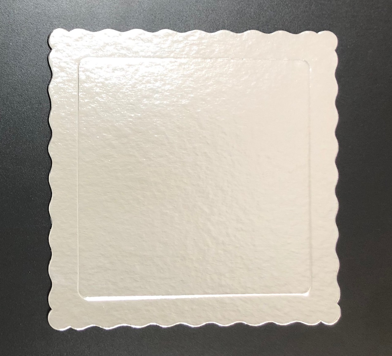 100 Bases Laminadas, Suporte P/ Bolo, Cake Board, 25x25cm - Prata