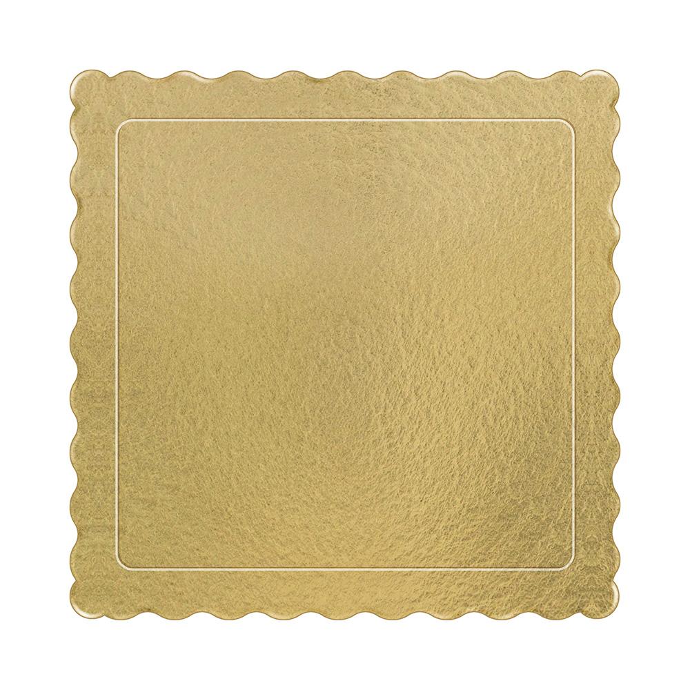 100 Bases Laminadas, Suporte P/ Bolo, Cake Board, 28x28cm - Ouro