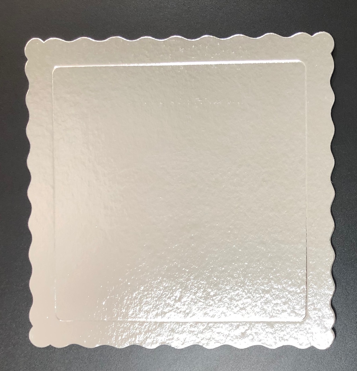 100 Bases Laminadas, Suporte P/ Bolo, Cake Board, 28x28cm - Prata