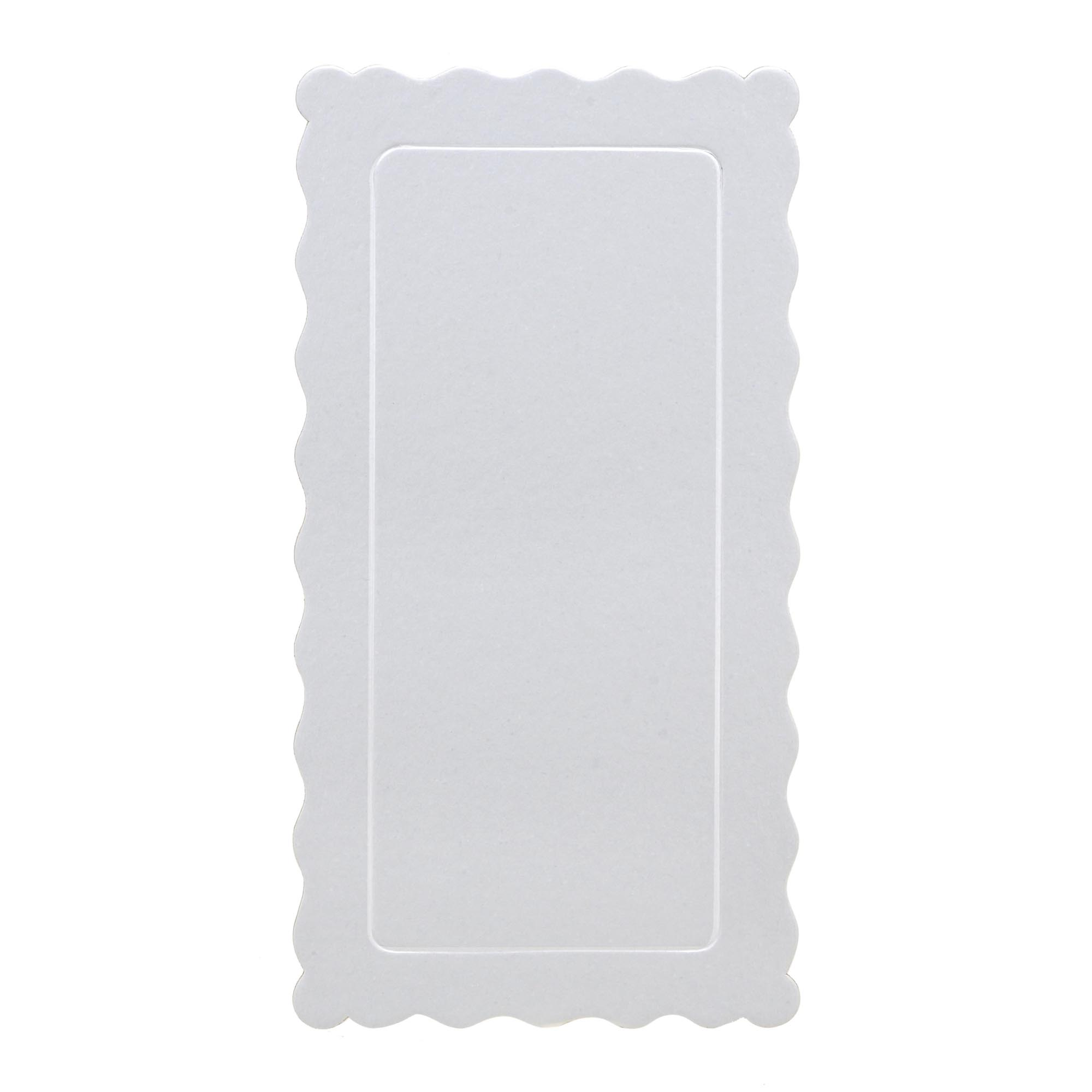 100 Bases Laminadas, Suporte P/ Bolo, Cake Board, 29x15cm - Branca