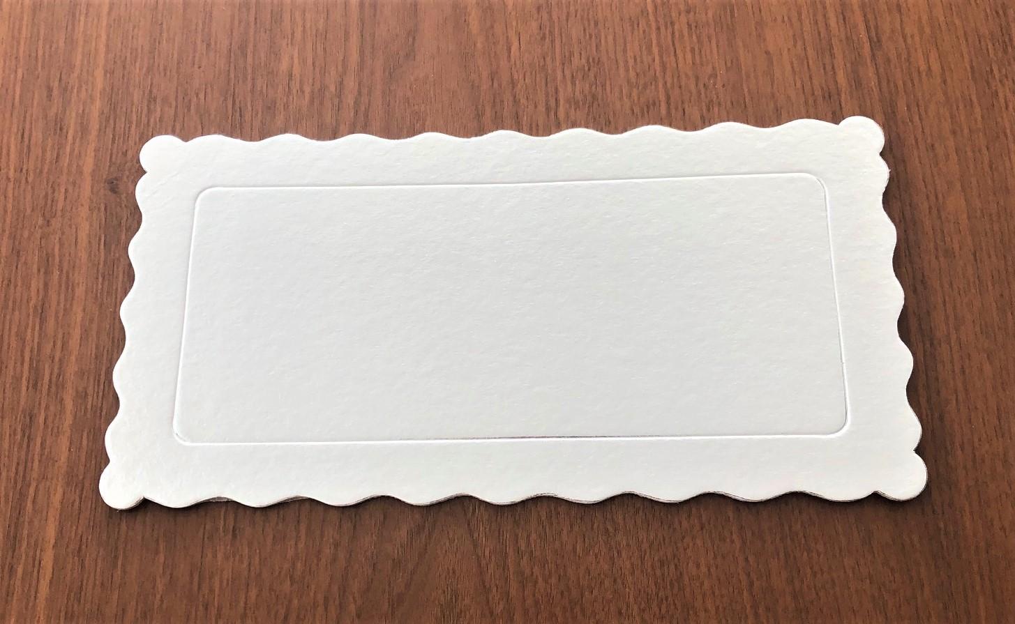 100 Bases Laminadas Para Bolo Retangular, Cake Board 29x15cm - Branco