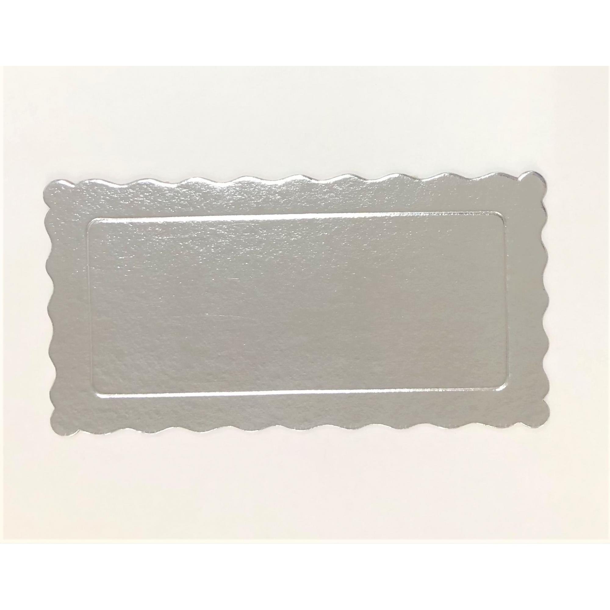 100 Bases Laminadas Para Bolo Retangular, Cake Board 29x15cm - Prata