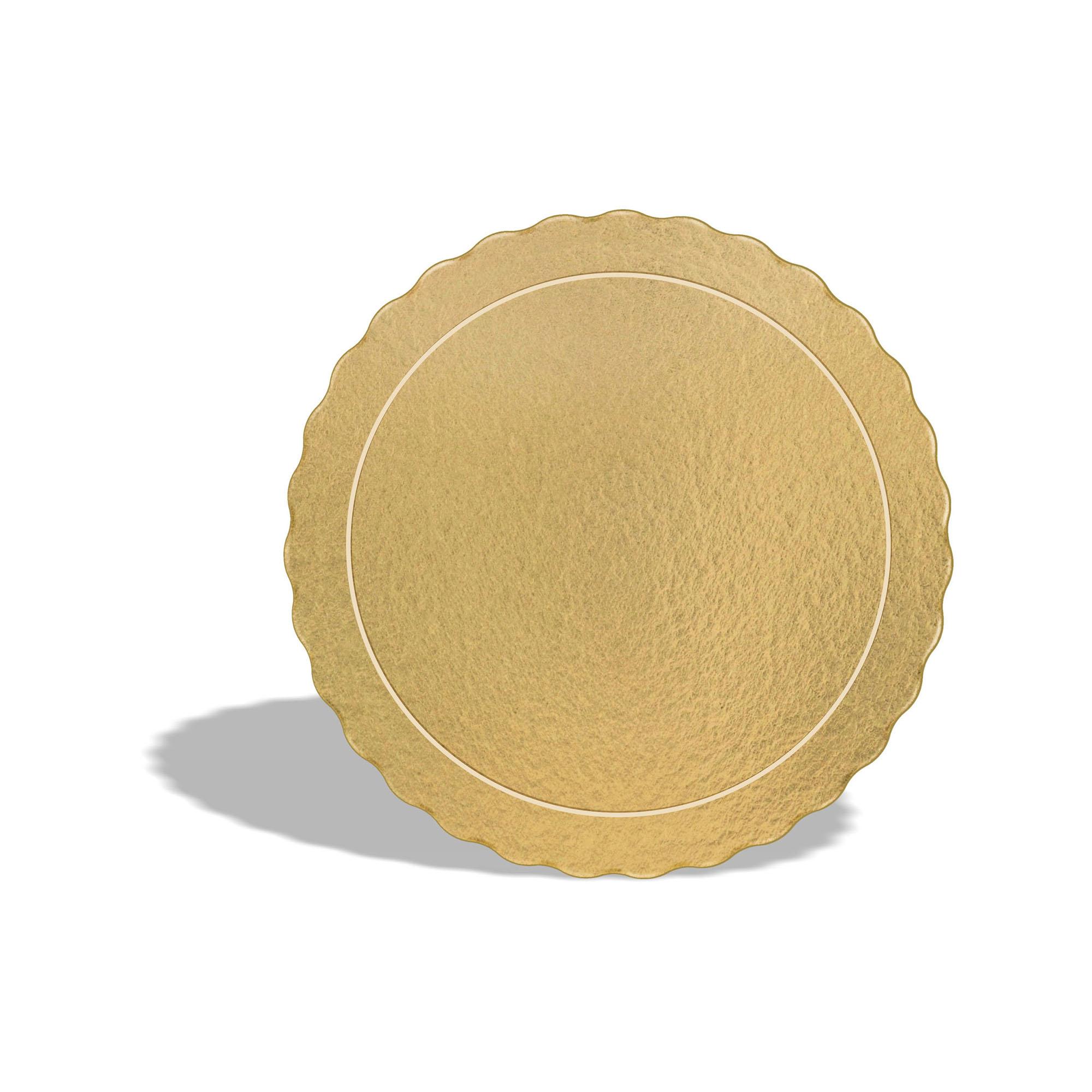 100 Bases Laminadas Para Bolo Redondo, Cake Board 30cm - Ouro