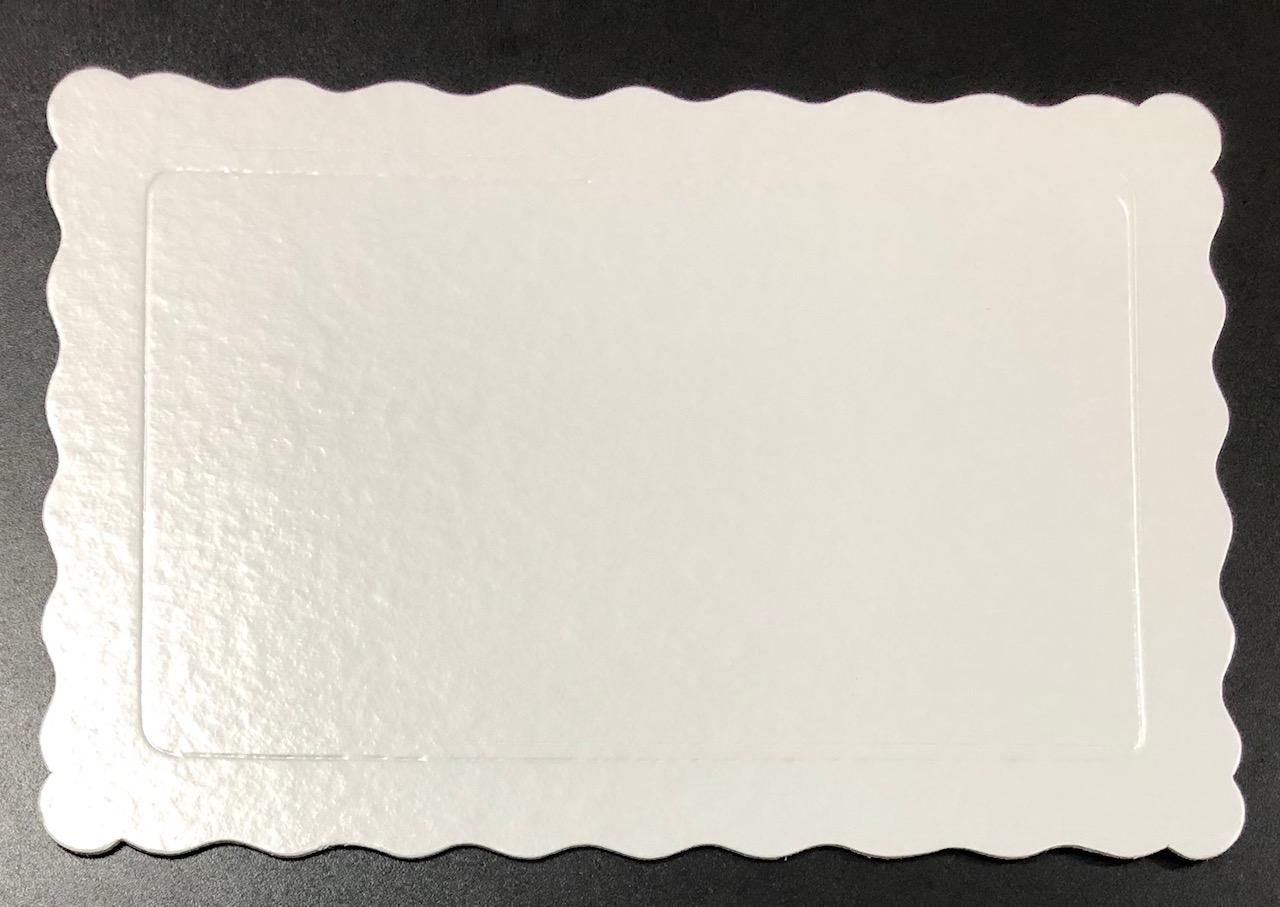 100 Bases Laminadas Para Bolo Retangular, Cake Board 30x20cm - Branco