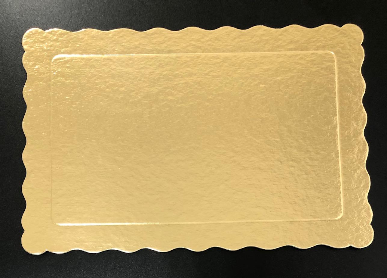 100 Bases Laminadas, Suporte P/ Bolo, Cake Board, 30x20cm - Ouro