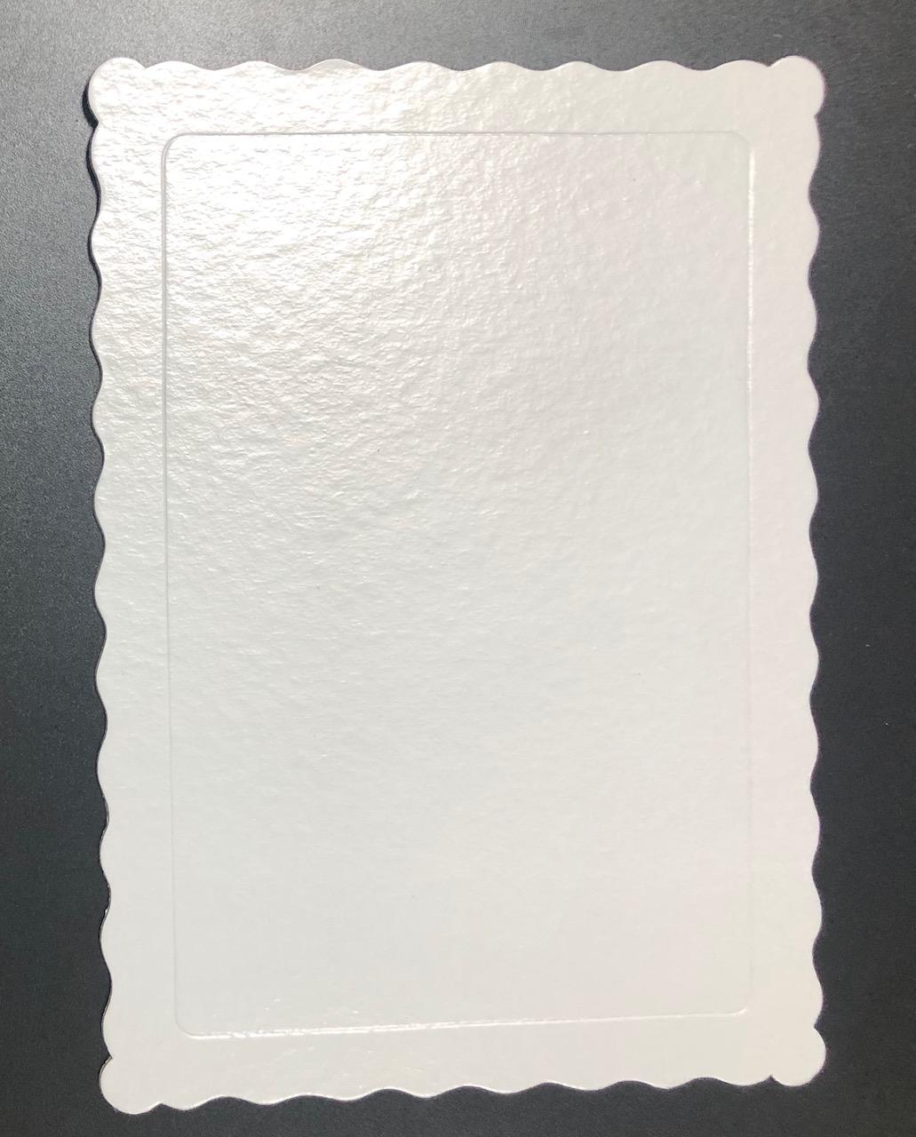 100 Bases Laminadas Para Bolo Retangular, Cake Board 35x25cm - Branco