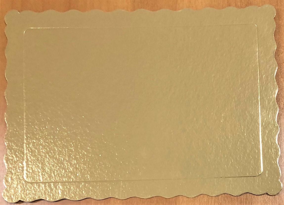 100 Bases Laminadas Para Bolo Retangular, Cake Board 35x25cm - Ouro