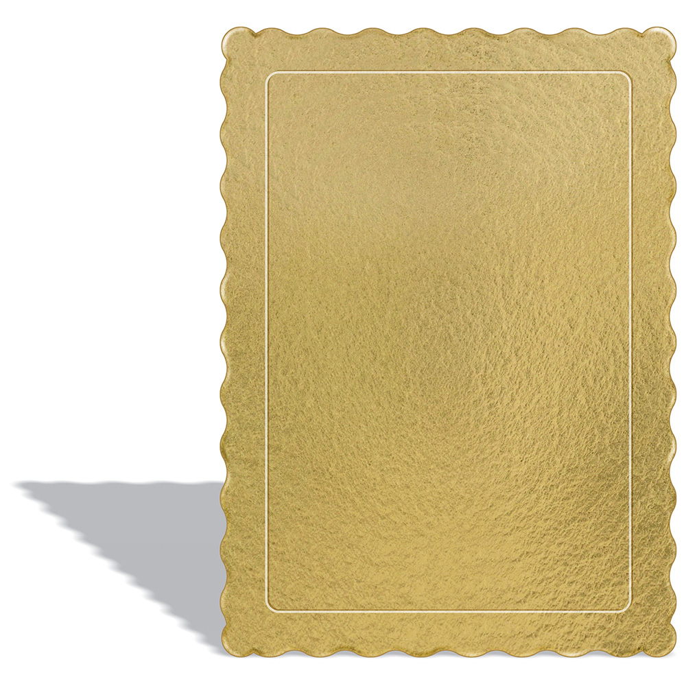 100 Bases Laminadas, Suporte P/ Bolo, Cake Board, 35x25cm - Ouro