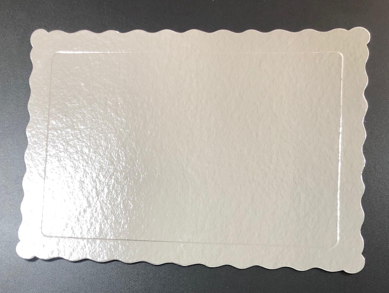 100 Bases Laminadas Para Bolo Retangular, Cake Board 35x25cm - Prata