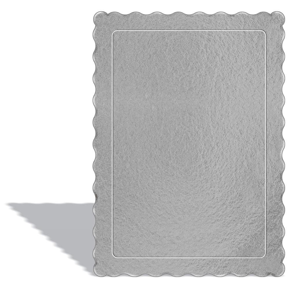 100 Bases Laminadas, Suporte P/ Bolo, Cake Board, 35x25cm - Prata