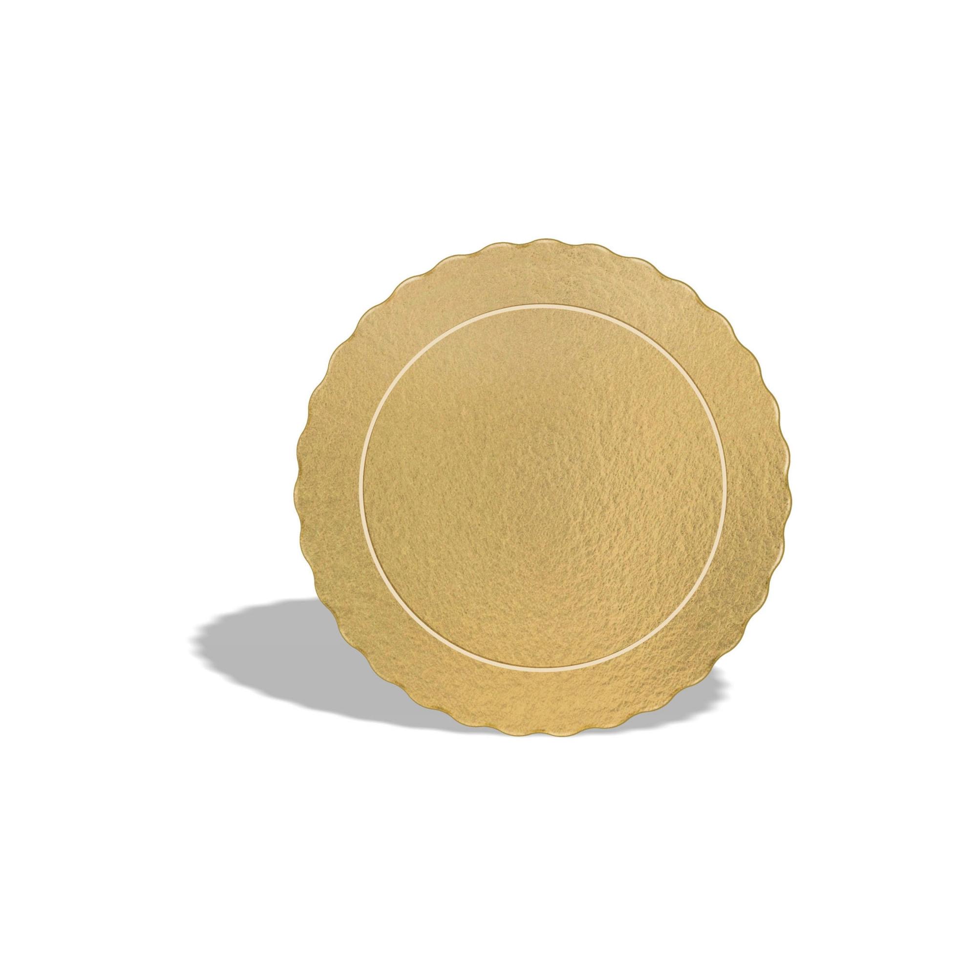 Kit 100 Bases Laminadas Para Bolo, Cake Board, 15 e 20cm - Ouro