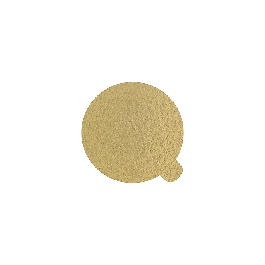 100 Bases Laminadas, Suporte P/ Brigadeiros e Doces 5,5 cm - Ouro