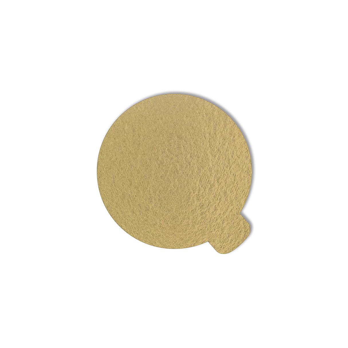 100 Bases Laminadas, Suporte P/ Doces de 7,5 cm - Ouro