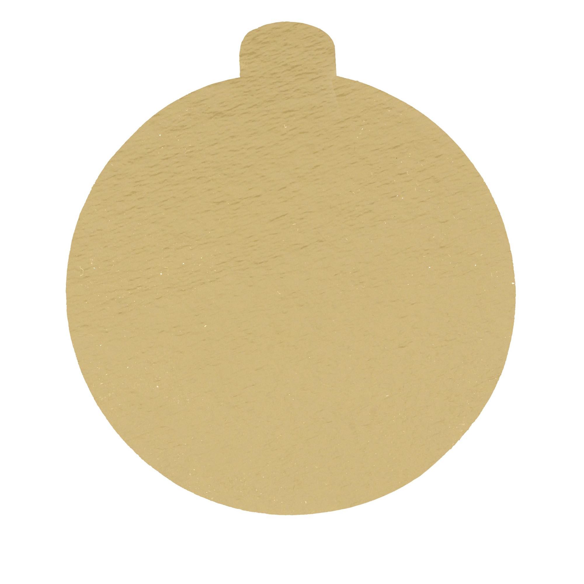 100 Bases Laminadas, Suporte P/ Brigadeiros e Doces, 10cm - Ouro