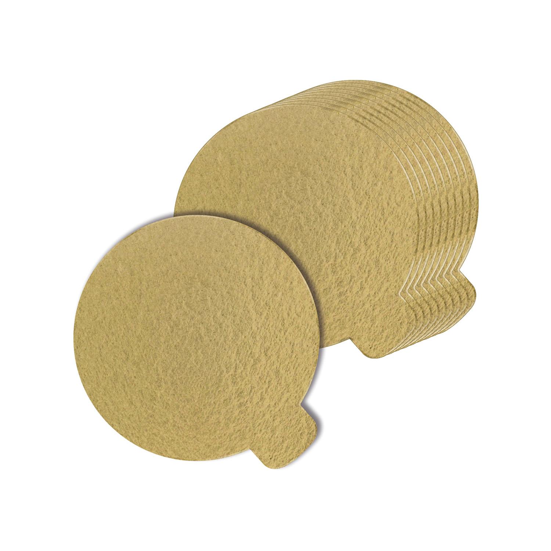 100 Bases Laminadas, Suporte P/ Doces 8cm - Ouro