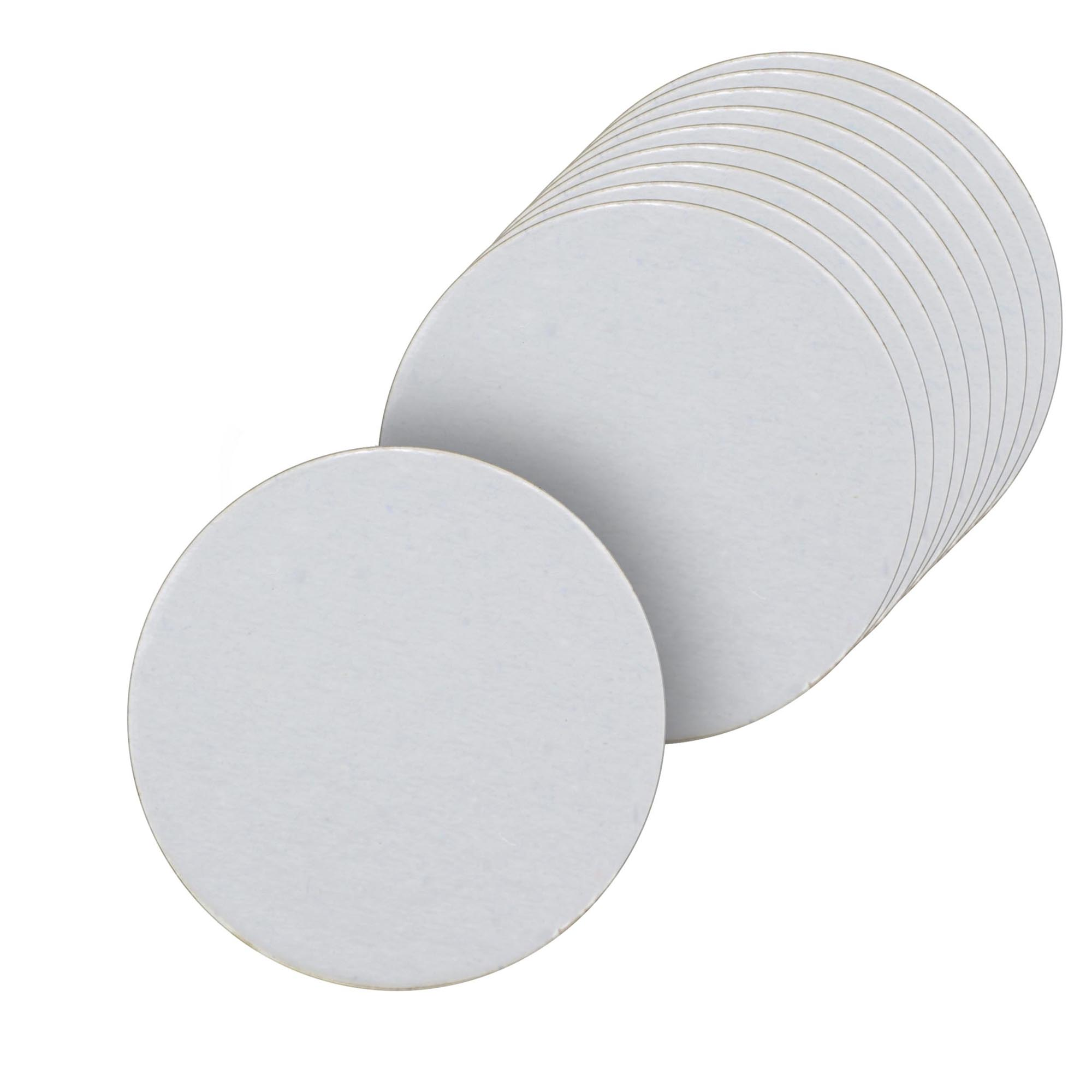 100 Bases Laminadas, Suporte P/ Doces, Disco 10cm - Branca