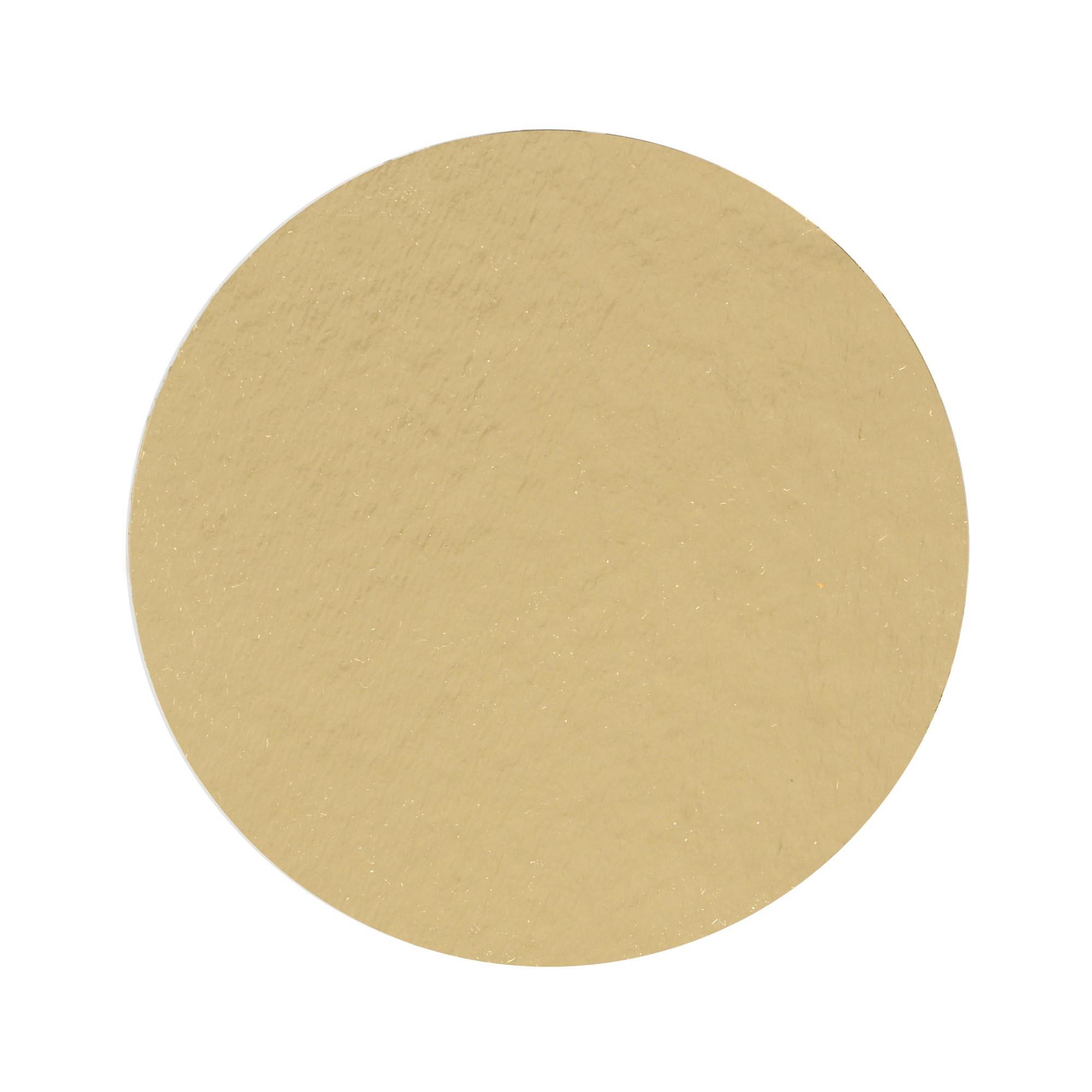 100 Bases Laminadas, Suporte P/ Doces, Disco 10cm - Ouro