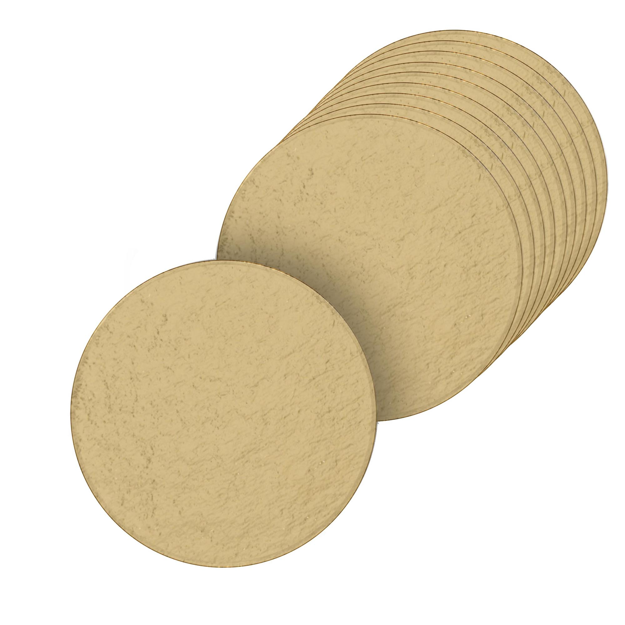 100 Bases Laminadas, Suporte P/ Doces, Disco 6cm - Ouro