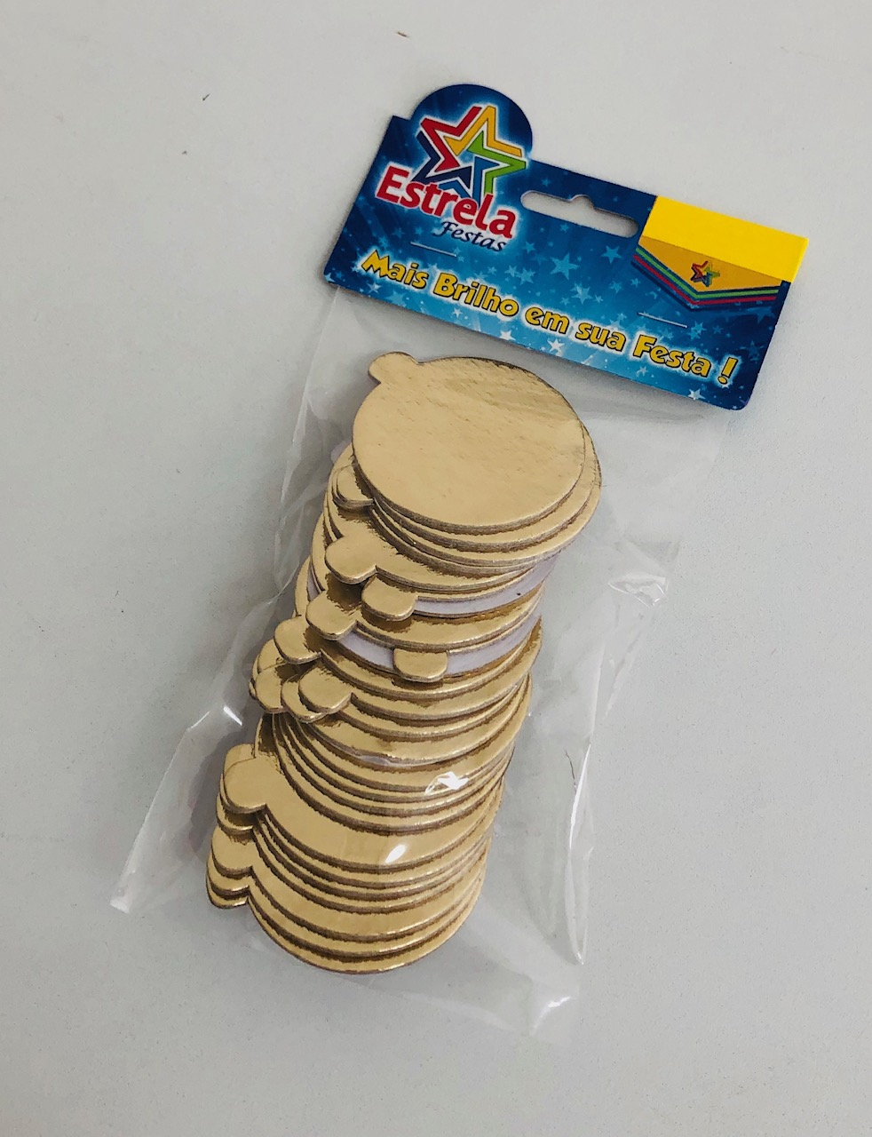 200 Bases Laminadas P/ Doces 5,5cm - Ouro