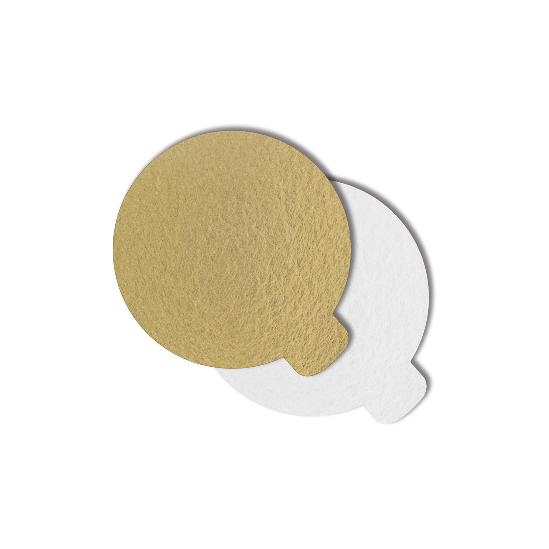 200 Bases Laminadas P/ Doces 8cm - Ouro