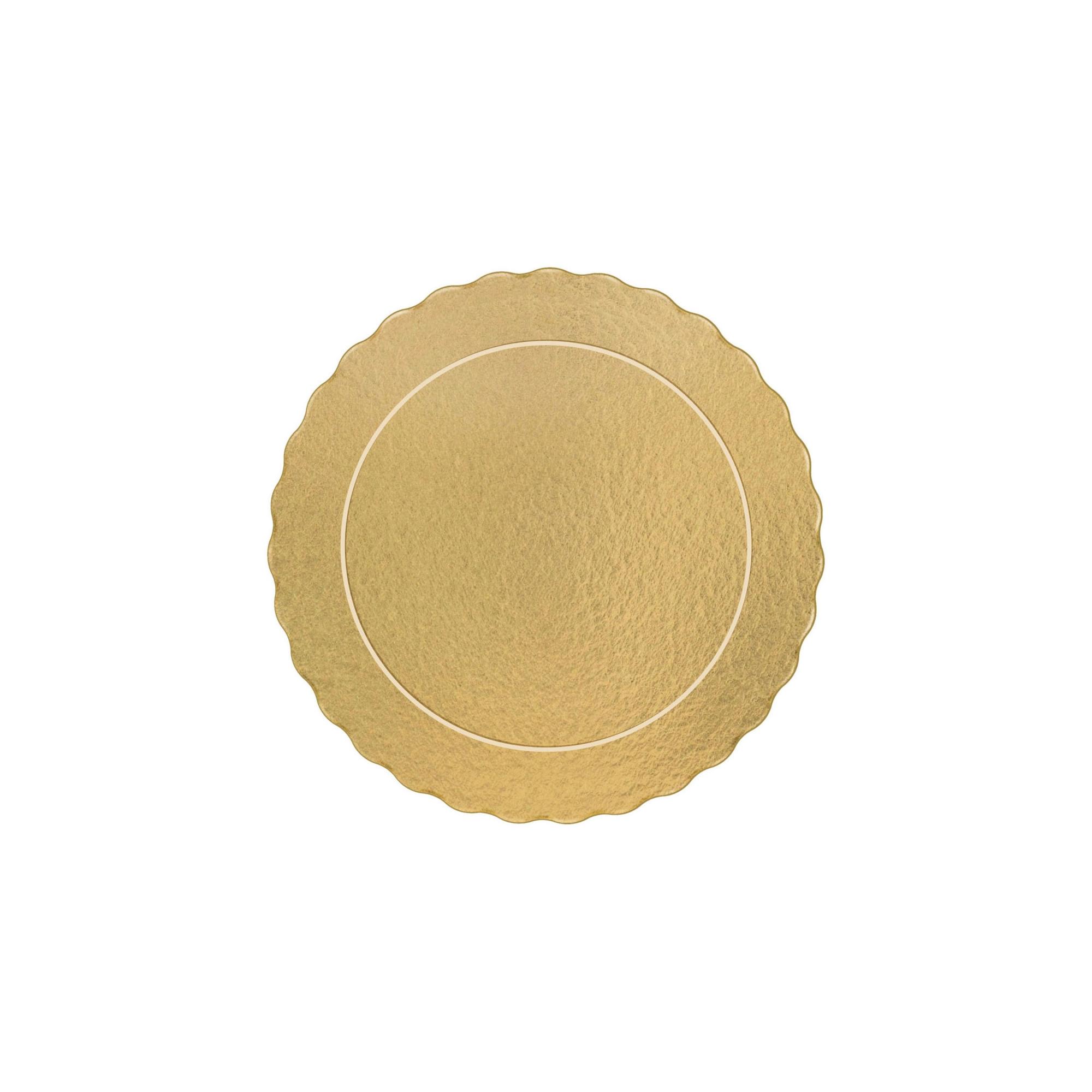 200 Bases Laminadas, Suporte P/ Bolo, Cake Board, 15cm - Ouro