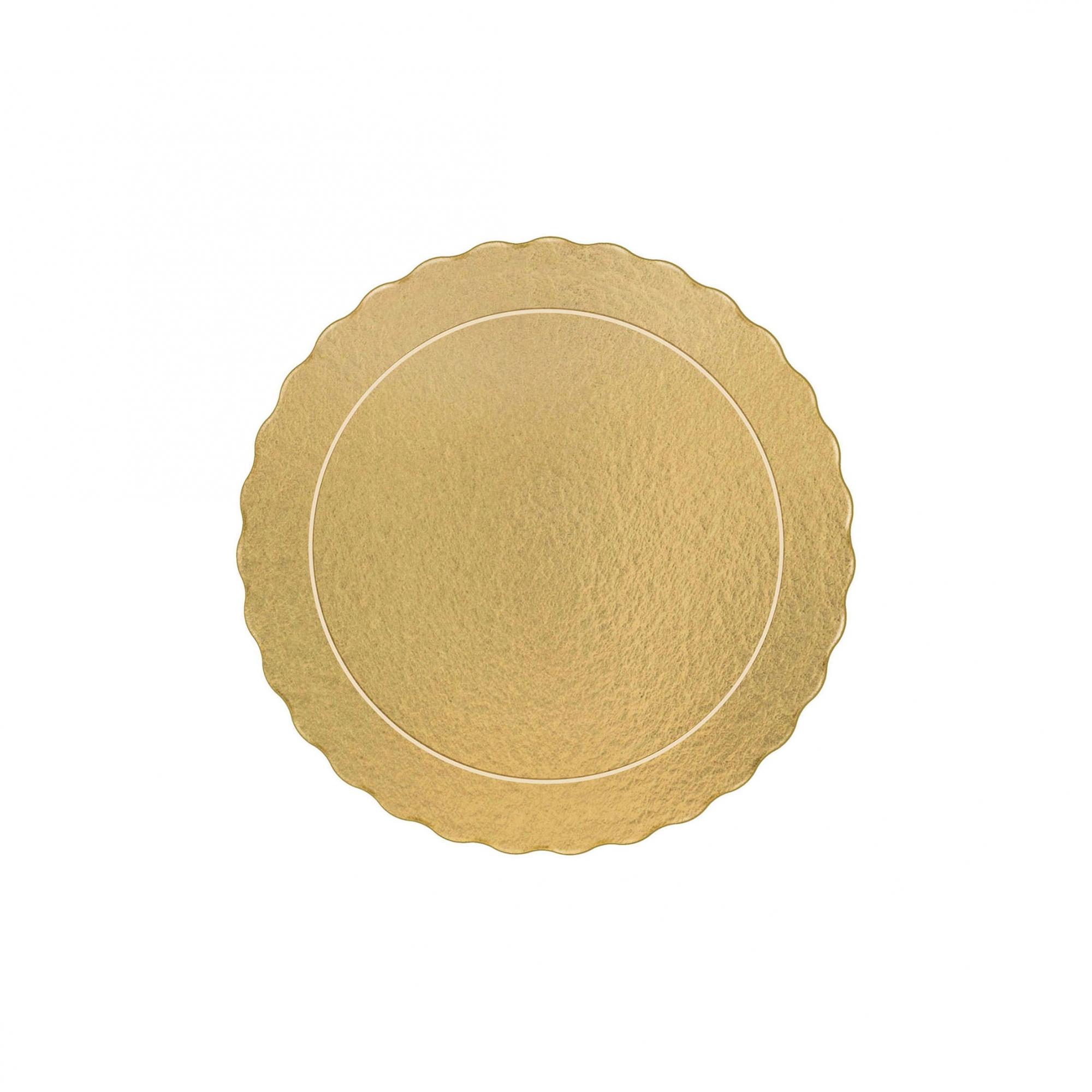 200 Bases Laminadas Para Bolo Redondo, Cake Board 21cm - Ouro