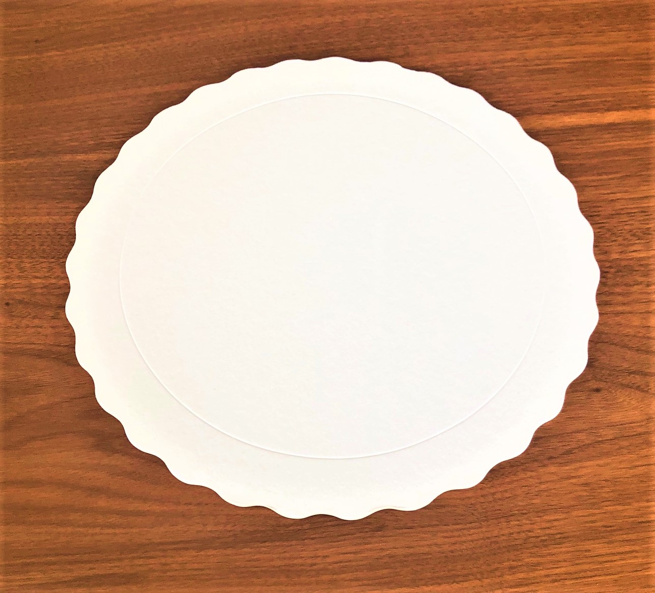 200 Bases Laminadas Para Bolo Redondo, Cake Board 23cm - Branco