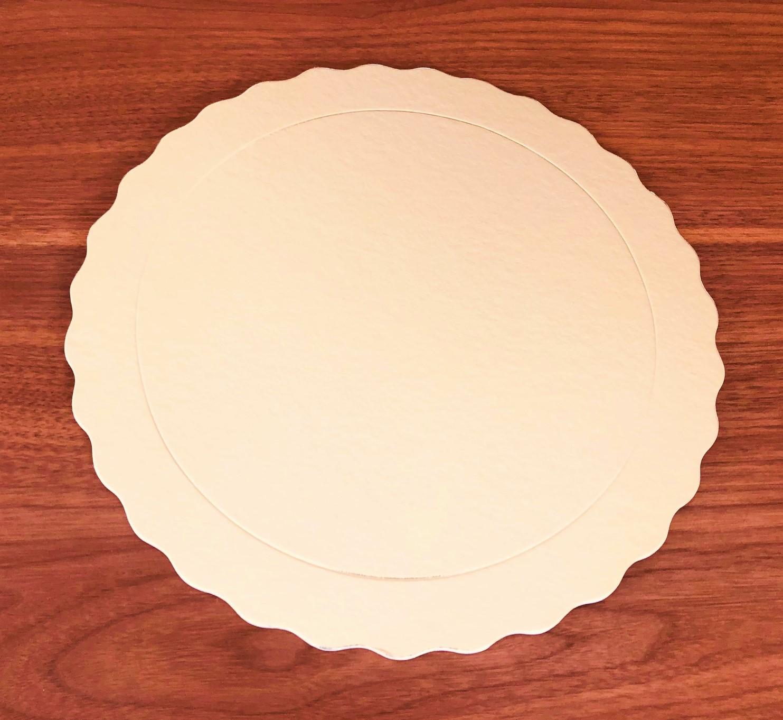 200 Bases Laminadas Para Bolo Redondo, Cake Board 23cm - Ouro