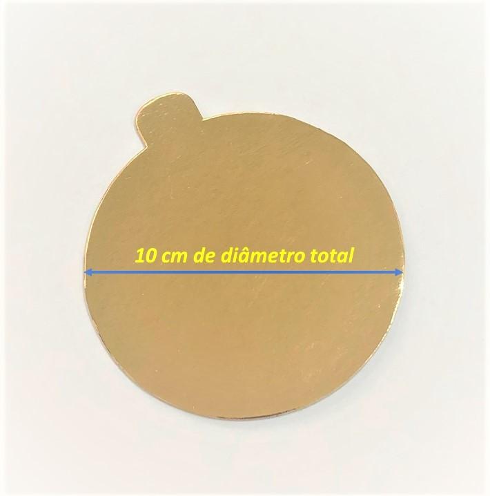 200 Bases Laminadas, Suporte P/ Brigadeiros e Doces, 10cm - Ouro