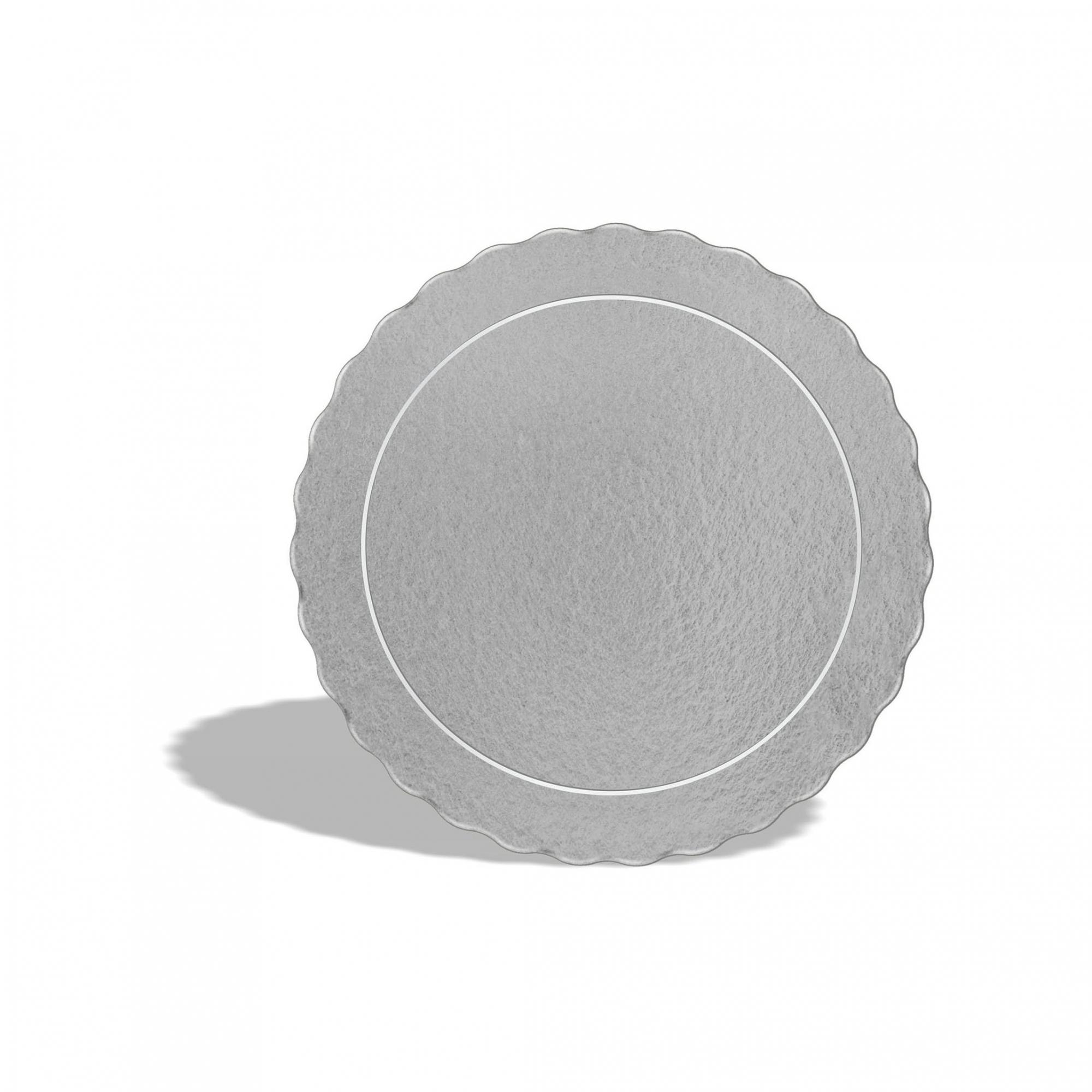 20 Bases Laminadas Para Bolo Redondo, Cake Board 24 cm - Prata