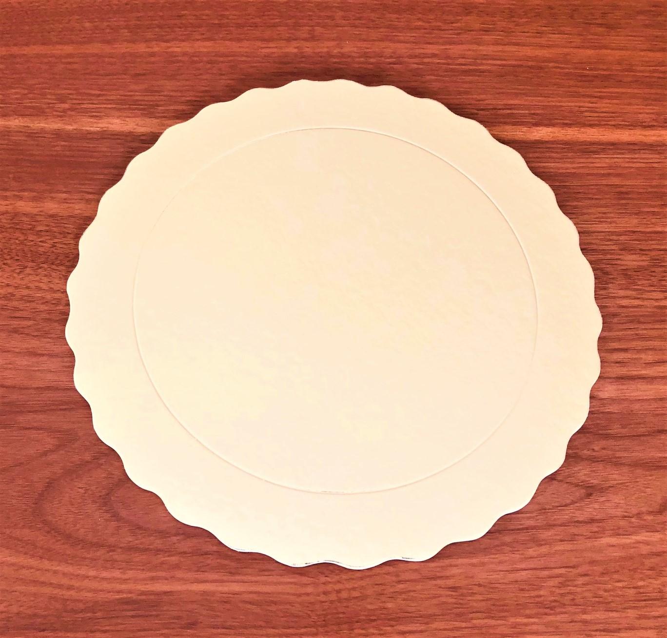 20 Bases Laminadas Para Bolo Redondo, Cake Board 25 cm - Ouro